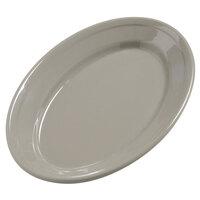Carlisle 4387231 9 1/4 inch x 6 1/4 inch Truffle Dayton Oval Platter 24 / Case