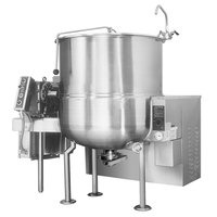 Cleveland HA-MKGL-80 80 Gallon Stationary 2/3 Steam Jacketed Gas Horizontal Mixer Kettle - 190,000 BTU