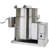Cleveland KGT-12-TGB 12 Gallon Tilting 2/3 Steam Jacketed Gas Tabletop Kettle - 53,000 BTU