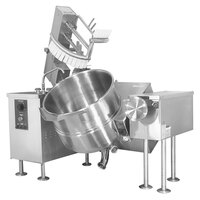 Cleveland MKGL-40-T 40 Gallon Tilting 2/3 Steam Jacketed Gas Mixer Kettle - 140,000 BTU
