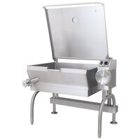 Cleveland SEL-30-T1 30 Gallon PowerPan Electric Open Base Tilt Skillet - 12 kW