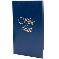 5 1/2 inch x 8 1/2 inch Menu Solutions L702A Wine List Cover - Dark Blue