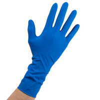 High Risk Latex Exam Gloves 15 Mil Medium - Blue
