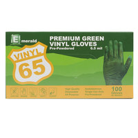 Small Disposable Vinyl Glove for General Purpose 6.5 Mil - Green