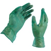 Large Disposable Vinyl Glove for General Purpose 6.5 Mil - Green