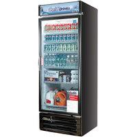 Turbo Air TGM-22RVB Black 29 inch Single Glass Door Merchandising Refrigerator - 22 Cu. Ft.