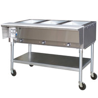 Eagle Group PDHT3 Portable Electric Hot Food Table Three Pan - Open Well