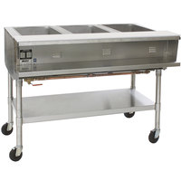 Eagle Group SPHT3 Portable Steam Table - Three Pan - Sealed Well