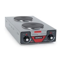 Nemco 6310-3 Electric Countertop Vertical Hot Plate with 2 Solid Burners