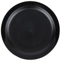 Cambro 9CWNR110 Camwear 9 inch Black Polycarbonate Narrow Rim Plate - 48/Case