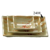 Gold Orchid 12 oz. Rectangular Melamine Wave Plate - 12/Pack