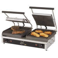 Star GX20IGS 10 inchx 10 inch Dual Grill Express Heavy Duty Grooved/Smooth Panini Grill