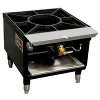 Town SR-18-R-SS-N Stock Pot Range with Rear Manifold - 75,000 BTU