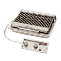 Wells B-406 24 inch Built-In Electric Charbroiler with Two Control Knobs - 5400W