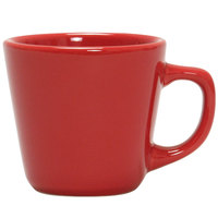 Tuxton NQF-701 TuxCare Healthcare 7 oz. Cayenne Colorado Tall Cup with Extra Large Handle - 36 / Case
