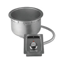 Wells SS8TD 7 Qt. Round Drop-In Soup Well with Drain- Top Mount, Thermostatic Control