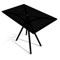 American Tables and Seating AB3048 30 inch x 48 inch Black Rectangular Outdoor Table