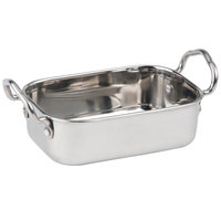 American Metalcraft MRP53 17 oz. Mini Roasting Pan with Handles - 5 3/4 inch x 3 3/4 inch x 1 3/4 inch
