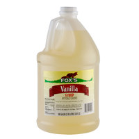Fox's Light Vanilla Syrup - (4) 1 Gallon Containers / Case