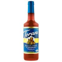 Torani 750 mL Sugar Free Cinnamon Vanilla Flavoring Syrup