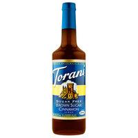 Torani 750 mL Sugar Free Brown Sugar Cinnamon Flavoring Syrup