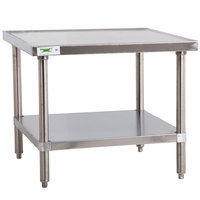 Regency 30 inch x 30 inch 16-Gauge Stainless Steel Mixer Table with Undershelf