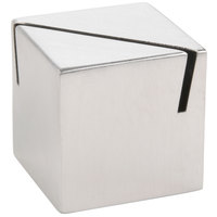 American Metalcraft ACS112 1 1/8 inch Stainless Steel Card Holder with Angled Cut