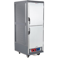 Metro C539-MDS-U-GY C5 3 Series Heated Holding and Proofing Cabinet with Solid Dutch Doors - Gray
