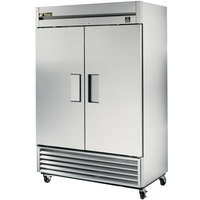 True TS-43F 47 inch Stainless Steel Two Section Solid Door Reach in Freezer - 43 cu. ft.