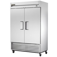 True TS-43 47 inch Stainless Steel Two Section Solid Door Reach in Refrigerator - 43 Cu. Ft.
