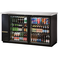 True TBB-24-60G-LD 61 inch Glass Door Back Bar Refrigerator with LED Lighting - 24 inch Deep