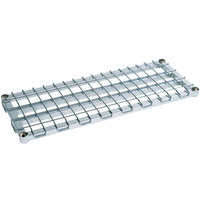 Metro 2436DRC 36 inch x 24 inch Chrome Heavy Duty Dunnage Shelf with Wire Mat - 1600 lb. Capacity