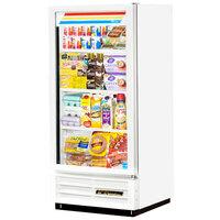 True GDM-10-LD White Glass Door Merchandiser Refrigerator with LED Lighting and White Trim - 10 Cu. Ft.