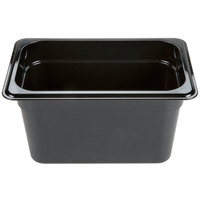 Carlisle 3088203 StorPlus 1/4 Size Black High Heat Food Pan - 6 inch Deep