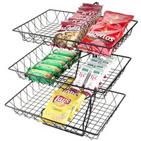 Cal-Mil 1291-3 Three Tier Merchandiser with Rectangular Wire Baskets - 18 inch x 22 inch x 20 inch