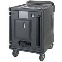 Cambro CMBPLH Charcoal Gray Electric Combo Cart Plus with Standard Casters Low Profile - 110V