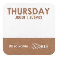 Noble Products Thursday 1 inch Dissolvable Day of the Week Dot Label - 1000/Roll