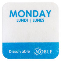 Noble Products Monday 1 inch Dissolvable Day of the Week Dot Label - 1000/Roll