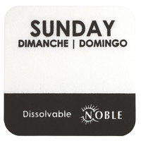 Noble Products Sunday 1 inch Dissolvable Day of the Week Dot Label - 1000 / Roll
