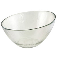 10 Strawberry Street HAG-10BWL Hammered Glass 10 inch Angled Bowl - 8/Case
