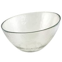 10 Strawberry Street HAG-10BWL 36 oz. Hammered Glass Angled Bowl - 8/Case