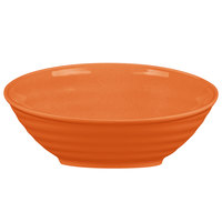 Tablecraft MBT115X Frostone 1.8 Qt. Orange Round Sloped Melamine Bowl