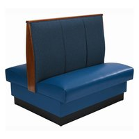 American Tables & Seating AD-483 Double 3 Channel Back Upholstered Booth - 48 inch High