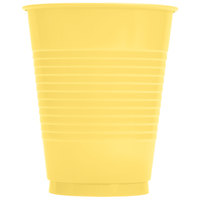 Creative Converting 28102081 16 oz. Mimosa Yellow Plastic Cup - 240/Case