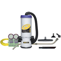 ProTeam 107114 10 Qt. Super CoachVac HEPA Backpack Vacuum Cleaner with 107099 Xover Performance Floor Tool Kit C - 120V