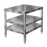 Hobart CUTTER-TABLE4 27 inch x 32 inch Table with 2 Shelves for Food Cutters