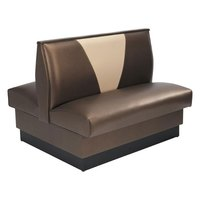 American Tables & Seating AD-48VN-D Double Deuce V Shape Back Booth - 48 inch High