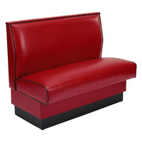 American Tables & Seating AS-48 Plain Single Back Fully Upholstered Booth - 48 inch High
