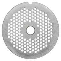 Hobart 12PLT-5/64C #12 5/64 inch Carbon Steel Grinder Plate for 4812 Meat Choppers and Chopping Ends