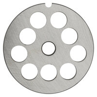 Hobart 12PLT-5/8C #12 5/8 inch Carbon Steel Grinder Plate for 4812 Meat Choppers and Chopping Ends